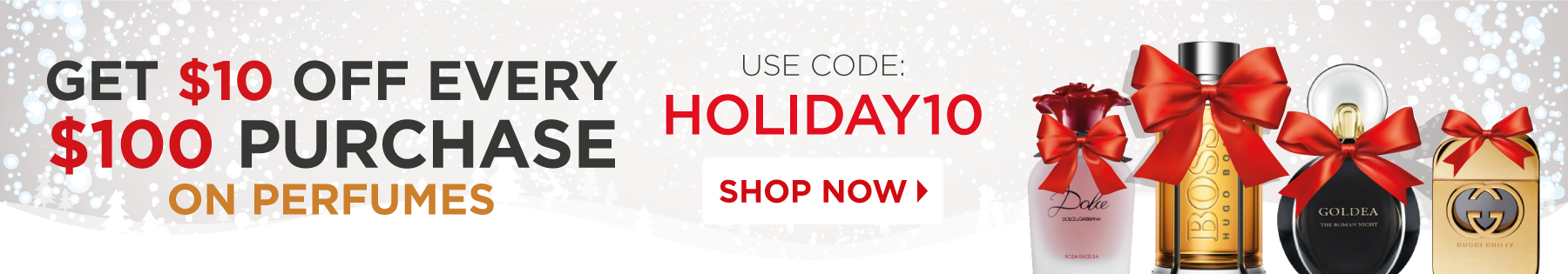 Holiday Shopping Begins...Save up to 90% off on Perfumes!