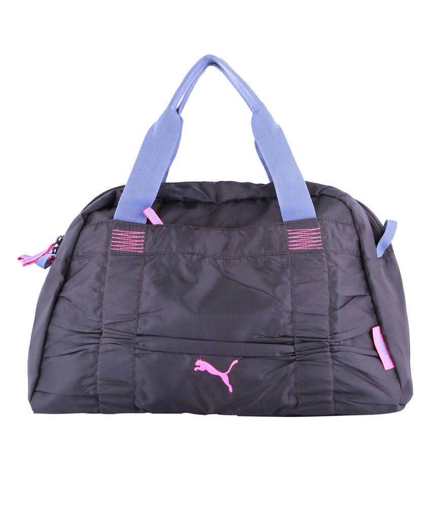 Womens Bags Accessories Fopping Puma Fitness Small Workout Bag Black And Night Shadow Blue Raspberry Rose For Women