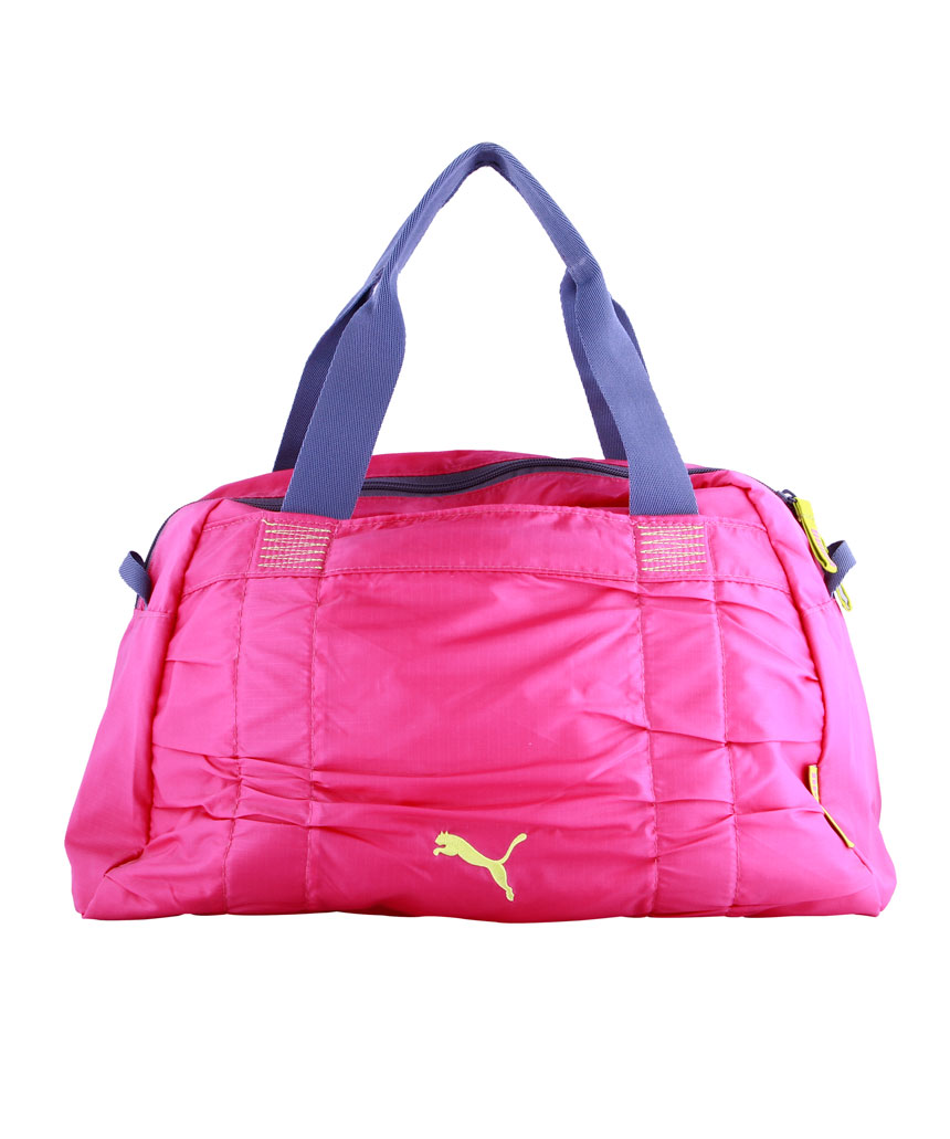 Womens Bags Accessories Fopping Puma Fitness Small Workout Bag Raspberry Rose And Nightshadow Blue Lime For Women C