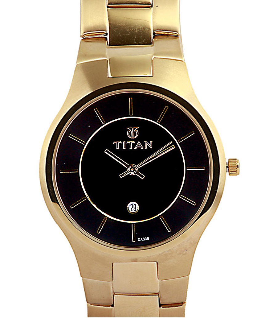 mens watches titan round dial and black face gold bracelet strap mens watches mens accessories mens fopping titan titan round dial and black face gold bracelet strap watch for men