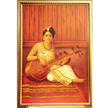 Oil On Canvas, Paintings, Rani Arts & Teak, Rani Arts & Teak, OIL PAINTING RAVI VARMA REPLICA