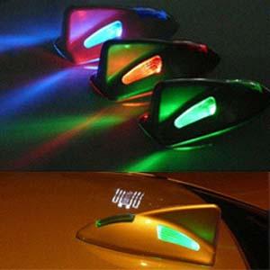 GB45-Solar Powered Shark Fin 6-LED Flashing light