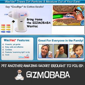 GB134-Gizmobaba WaxVac Vacuum Ear Cleaner Gadget!