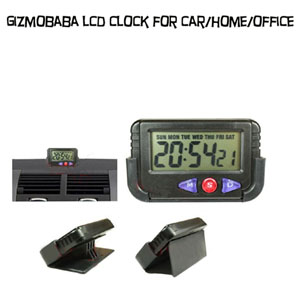 GB158-Gizmobaba LCD Car Alarm Clock.