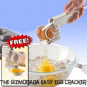 GB96-Handheld Egg Cracker Separator Crack Raw Eggs