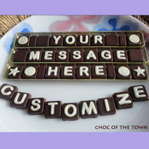 Customized text chocolate
