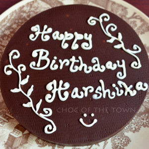 Birthday, Special Occasions, Choc Of The Town, Birthday Message disc chocolate