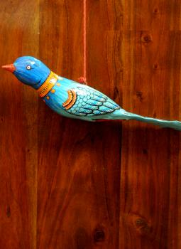 Cloth mobile,Indiacraft,Large Wooden Bird Mobile - Blue  AP17LA