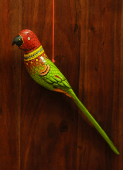 Cloth mobile,Indiacraft,Large Wooden Bird Mobile - Parrot  AP17LD