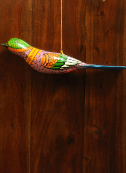 Cloth mobile,Indiacraft,Large Wooden Bird Mobile - Pink, green  AP17LF