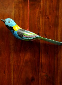 Cloth mobile,Indiacraft,Large Wooden Bird Mobile -Blue,black AP17LI