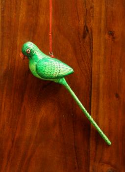 Cloth mobile,Indiacraft,Small Wooden Bird Mobile - Green Parrot  AP18SA