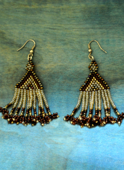 Jewellery,Indiacraft,Bhopal Beadwork Earrings