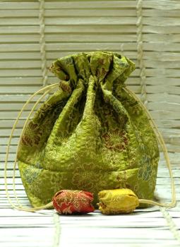 Benarasi potli  bag,Indiacraft,Benarasi Cloth Potli Bags with Strings