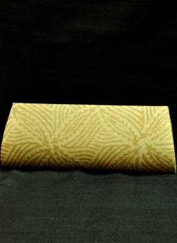 Brocade clutch bag,Indiacraft,Beige & Gold Clutch Bag -Leaf  Design