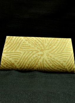 Brocade clutch bag,Indiacraft,Beige & Gold Clutch Bag (Small)-Leaf  Design