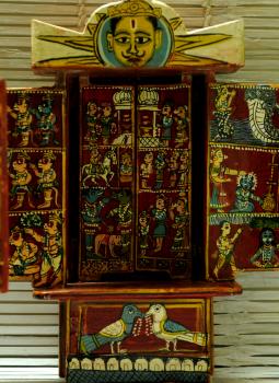 Kavad Art,Indiacraft,Big Kaavad- Painted wood portable shrine