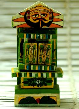 Kavad Art,Indiacraft,Small Kaavad- Painted wood portable shrine
