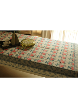 Brocade clutch bag,Indiacraft,Block printed Table Cloth ( 6 seater)  BPTCC