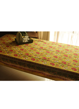 Brocade clutch bag,Indiacraft,Block printed Table Cloth ( 6 seater)  BPTCE