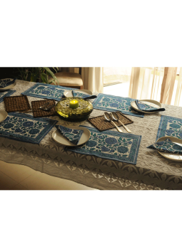 Brocade clutch bag,Indiacraft,Block Printed Table Mats & Napkins ( Set of 6 each)  BPTMNJ