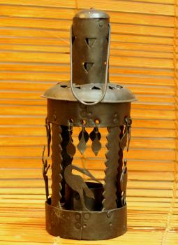 Bastar Tribal Art,Indiacraft,Bastar Tribal Art candle holder - round BRACR