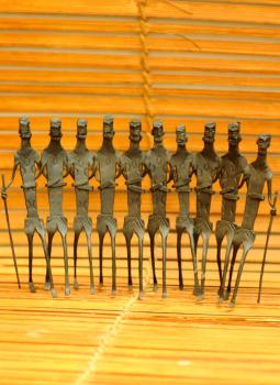 Bastar Tribal Art,Indiacraft,Bastar Tribal Art curio - group  BTACG
