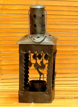 Bastar Tribal Art,Indiacraft,Bastar Tribal Art candle holder - square  BTACS