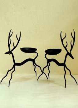 Bastar Tribal Art,Indiacraft,Bastar Tribal Art metal candle holders - Deer (set of 2) ...