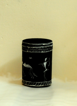 Bastar Tribal Art,Indiacraft,Bastar Tribal Art metal pen stand BTAMPS