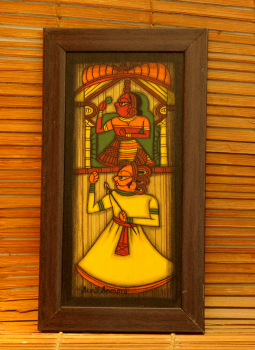 Contemporary Paintings,Indiacraft,Contemporary Art - Phad Painting on wood framed - Long ye...
