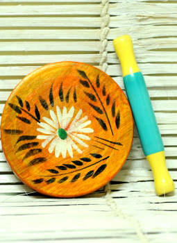 Childrens Toys,Indiacraft,Channapatna wooden toys - Chakla-Belan painted