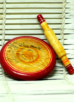 Childrens Toys,Indiacraft,Channapatna wooden toys - Chakla-Belan