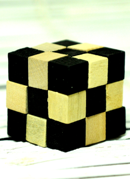 Childrens Toys,Indiacraft,Channapatna wooden toys - Puzzle cube