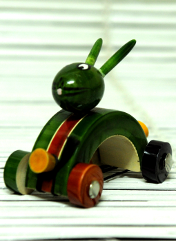 Childrens Toys,Indiacraft,Channapatna wooden toys-Bunny