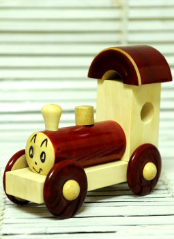 Childrens Toys,Indiacraft,Channapatna wooden toys- Small engine Brown
