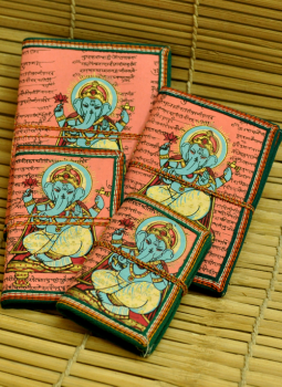 Printed Art forms,Indiacraft,Cloth painted note book set - 4 pcs (CPNSFP)