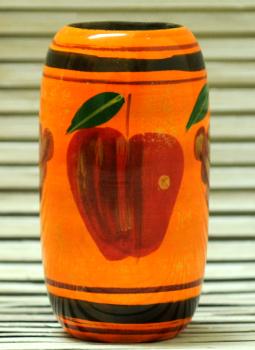 Mabdhubani Pen Stand,Indiacraft,Channapatna wooden Pen Stand - Orange