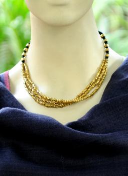Jewellery,Indiacraft,Dhokra Craft Multistring Neckpiece