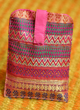 Kutch Embroidered Handbags,Indiacraft,Silk Visiting Card Holders- (DH42SVG)