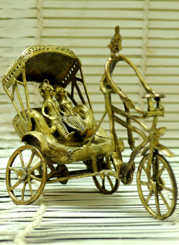 Dhokra Metal Casting Art,Indiacraft,Dhokra Craft Curio - Cycle Rickshaw