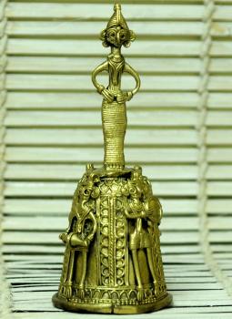 Dhokra Metal Casting Art,Indiacraft,Dhokra Craft Curio - Ornate Bell