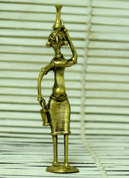 Dhokra Metal Casting Art,Indiacraft,Dhokra Craft Curio- Fetching Water