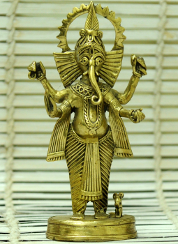 Dhokra Metal Casting Art,Indiacraft,Dhokra Craft Curio- Ganesha Standing