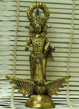 Dhokra Metal Casting Art,Indiacraft,Dhokra Craft Curio- Goddess Lakshmi Standing