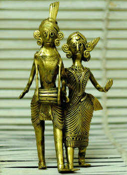 Dhokra Metal Casting Art,Indiacraft,Dhokra Craft Curio- Musician Couple