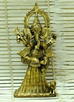 Dhokra Metal Casting Art,Indiacraft,Dhokra Craft Curio- Standing Ganesha