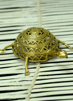 Dhokra Metal Casting Art,Indiacraft,Dhokra Craft Curio - Tortoise