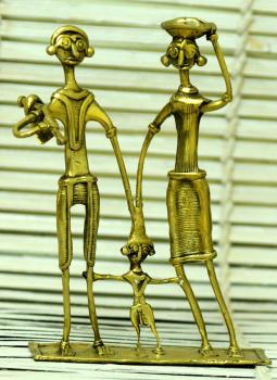 Dhokra Metal Casting Art,Indiacraft,Dhokra Craft Curio- Farmer Family