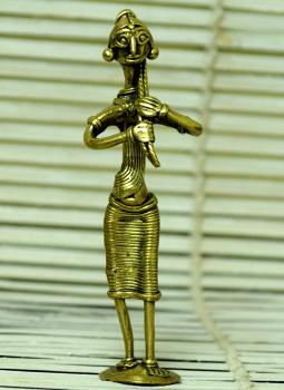 Dhokra Metal Casting Art,Indiacraft,Dhokra Craft Curio- Farmer Woman